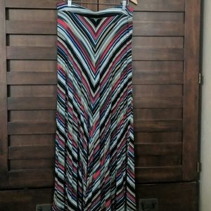 Lane Bryant Chevron Pattern Maxi Skirt